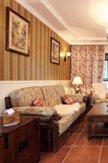 古典美式乡村沙发墙