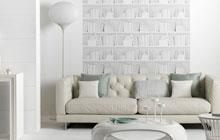 黑白沙发背景墙 简约纯净客厅