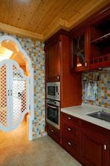 胡梁峰作品 美式与地中海混搭二居室