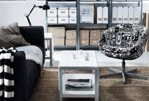 黑白经典风沙发区搭配