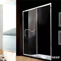 德莉玛淋浴房 一字型不锈钢淋浴房PG101(含送货安装 全包)