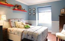 小户型墙面色彩之净爽蓝