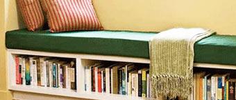 飘窗书柜巧妙设计  利用小空间成就大用途