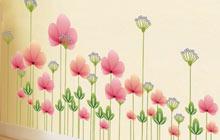 玄关墙壁美美哒 小花朵营造的美感