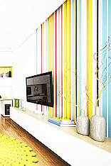 条纹电视墙壁纸