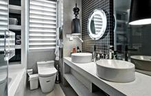 经典黑白配 16款卫浴挂件效果图