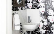 17款卫浴壁纸 个性卫生间必备