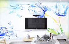 电视背景墙设计 16款DIY手绘墙图片