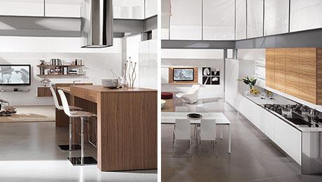 现代时尚开放式厨房橱柜