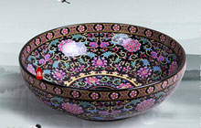 炫丽民族风—莫耶黑底彩绘陶瓷面盆