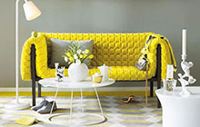 阳光清新 13个活力黄色客厅沙发设计