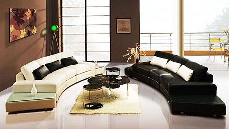 11图半圆形组合沙发 营造温馨氛围