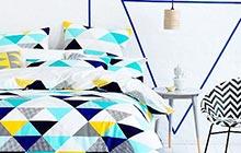 11款创意床品 打造卧室几何空间