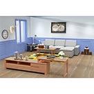 华日家居靓华系列北欧风格客厅套餐电视柜+沙发